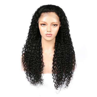 Parksonhair Deep Curly Full Lace Wigs Human Hair Brazilian Hair