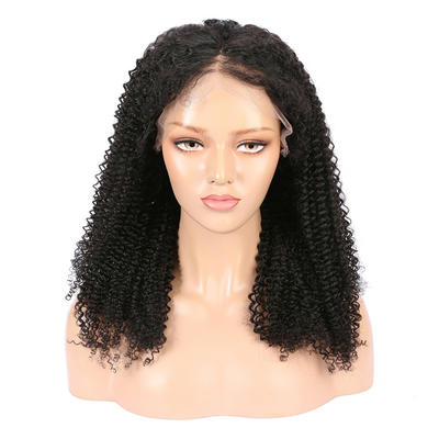 Parksonhair Kinky Curly Full Lace Wigs Brazilian Hair Unprocessed