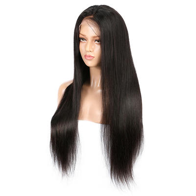 Parksonhair Natural Straight 360 Degree Lace Wig Natural with Baby Hair